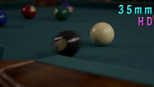 Thumbnail for Billiard Ball Is Being Hit In The Pocket