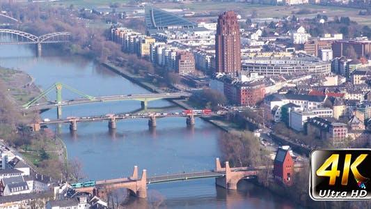Frankfurt City and Main River