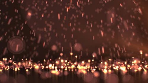 Falling Gold Particles