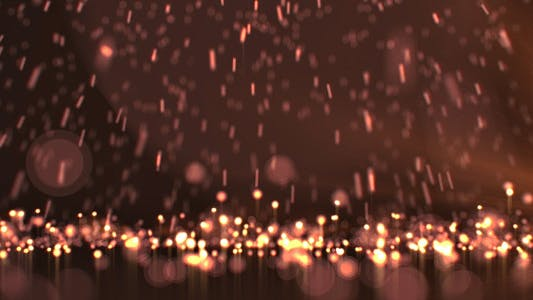 Thumbnail for Falling Gold Particles