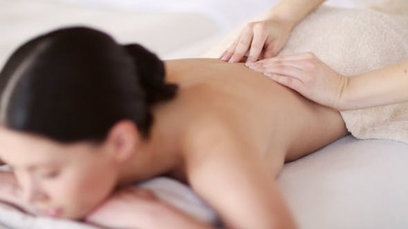 Thumbnail for Happy Woman Having Massage At Spa