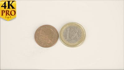 A Bronze Germany Coin and the 1 Euro Coin