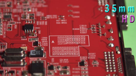 Thumbnail for Red Computer Circuit Board 04