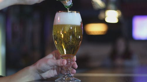 Man Pours Beer
