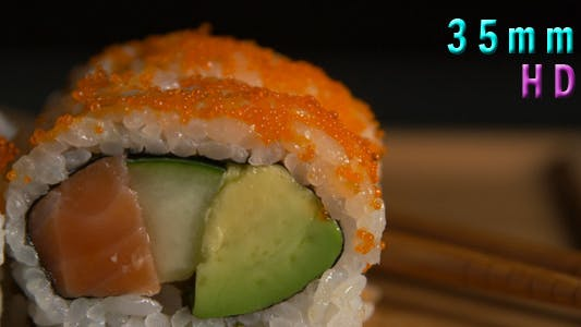 Thumbnail for Sushi Rolls With Orange Caviar 02