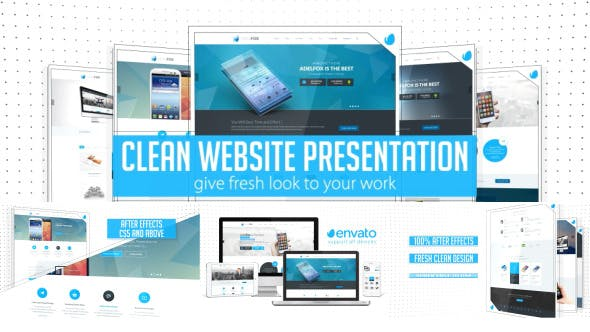 Thumbnail for Clean Website Presentation 2 in 1