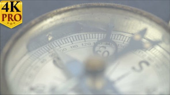 Thumbnail for Closer View of the Compass and its Numbers