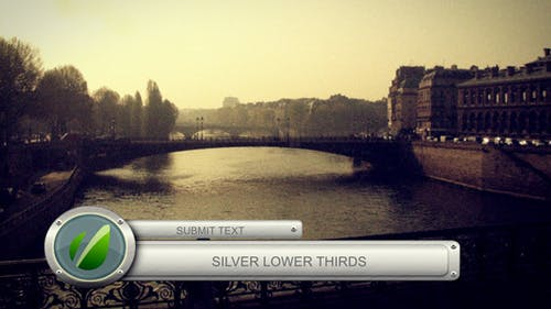 Silver Lower Thirds