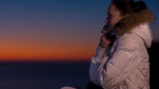 Thumbnail for Beautiful Girl at Sunset