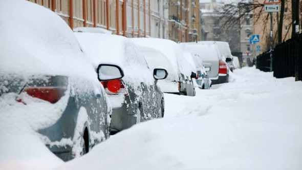 Thumbnail for Parked Cars in Winter