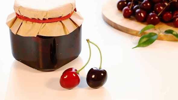 Thumbnail for Cherry Jam Jar And Fresh Cherry Harvest