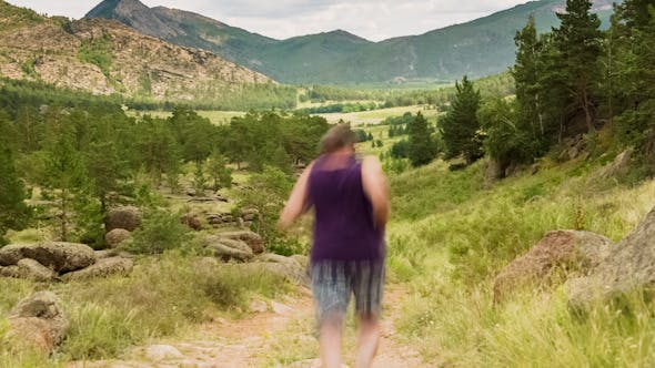 Thumbnail for Man Jogging on the Mountain Valley 1511