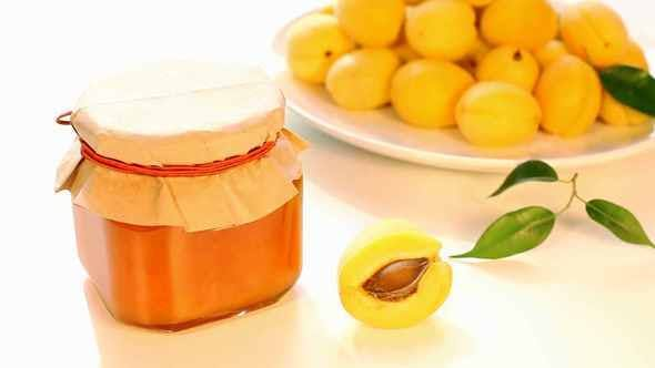 Thumbnail for Apricot Jam In Jar And Fresh Apricots