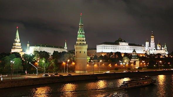 Thumbnail for Moscow Kremlin And River At Night
