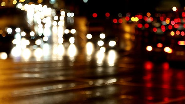 Cover Image for Defocused Evening Car Traffic At Rush Hour
