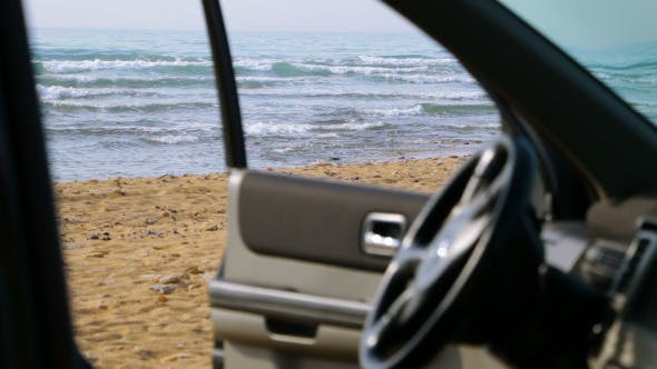 Thumbnail for View to the Beach from the Car