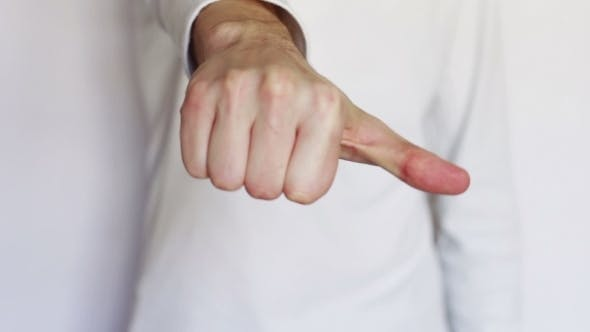 Thumbnail for Man Shows Gestures And Signs With His Hands.
