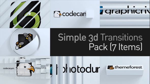 Thumbnail for 3D Simple Transitions Pack