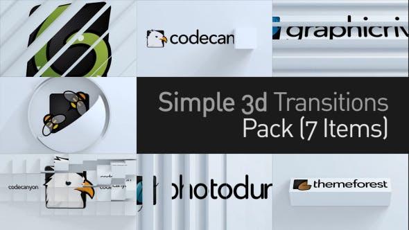 Thumbnail for Paquete de transiciones simples 3D
