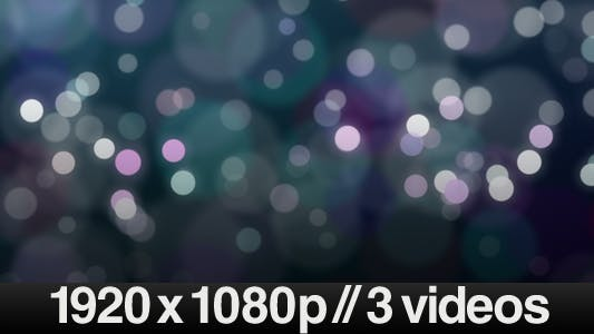 Thumbnail for 3 Moving Defocused Particles videos - LOOP