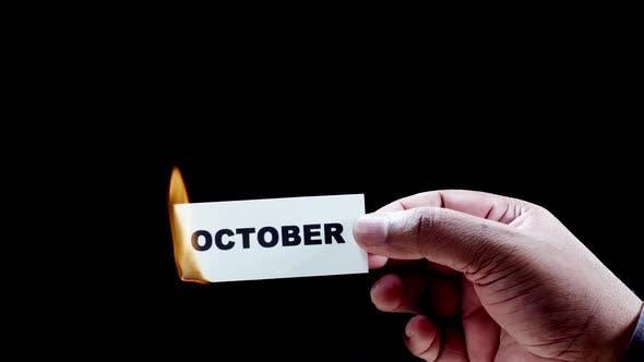 Thumbnail for Burning Paper Writing October
