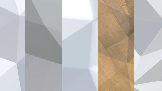 Thumbnail for Fondos poligonales, paquete de 5