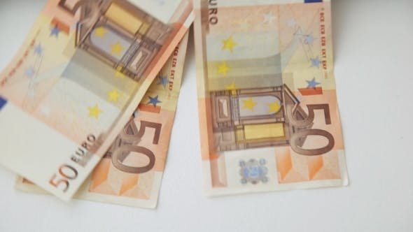 Thumbnail for Falling 50 Euro Paper Money Bank Notes