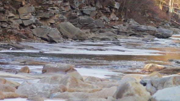 Thumbnail for Mountain River Runs Rapidly