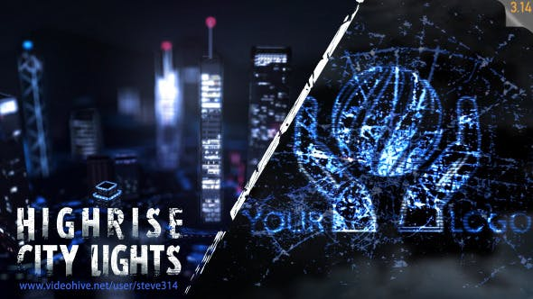 Thumbnail for Highrise City Lights - Logo Intro