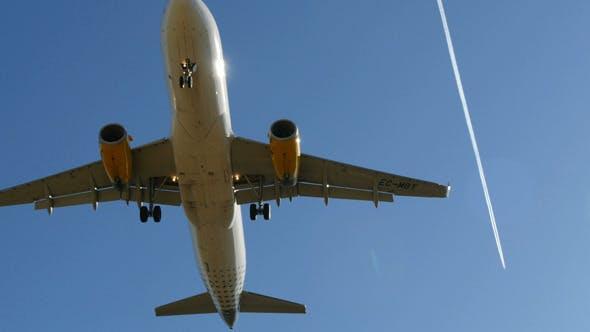 Thumbnail for Jet Plane A320 Approaching Landing