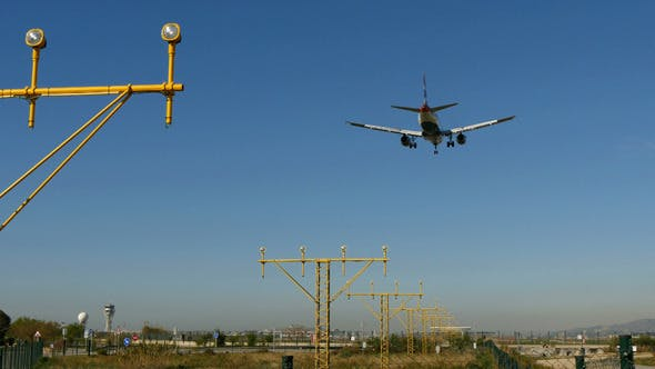 Thumbnail for Commercial Aircraft Landing at Barcelona Airport