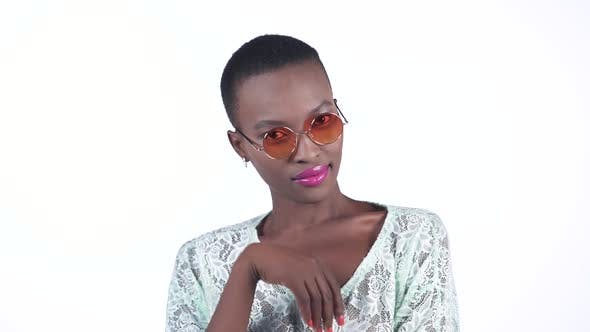 Thumbnail for African Woman Wearing Sunglasses
