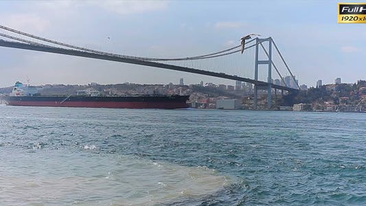 Thumbnail for Bosphorus Bridge And Freighter
