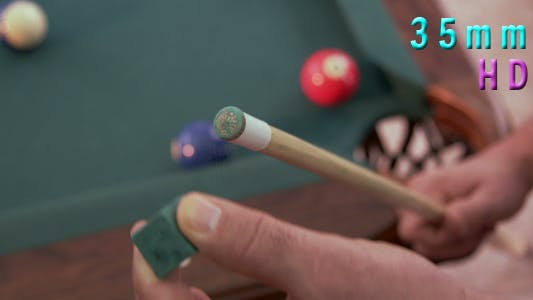 Thumbnail for Billiards Pool Player Chalking Cue Stick 20