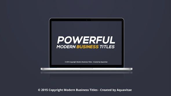 Thumbnail for Powerful & Modern Business Titles