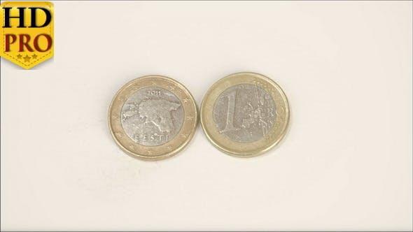 An Estonian 2011 Coin and a 1 Estonia Euro Coin
