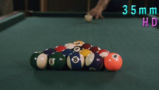 Thumbnail for Billiards Poll Table Break Shot