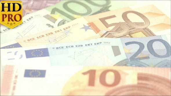 Thumbnail for Closer Look of the Big Numbers from the Euro Bills