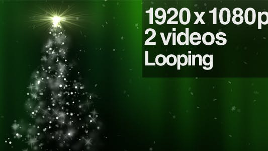 Thumbnail for Sparkling Green Christmas Tree - Series of 2 Loop