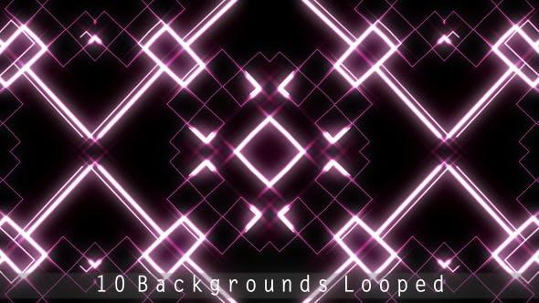 Thumbnail for VJ Hypnotic Neon Light Backgrounds (10 Pack)
