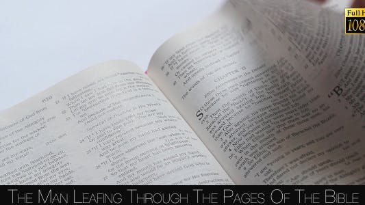 Cover Image for The Man Leafing Through The Pages Of The Bible 3