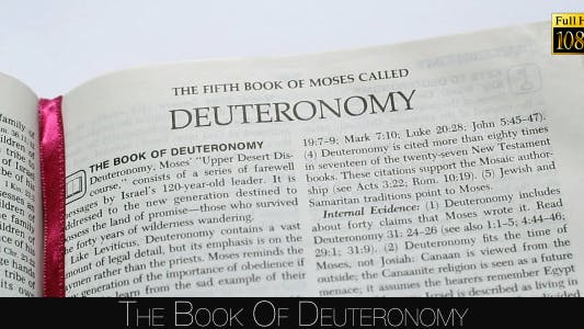 Cover Image for The Book Of Deuteronomy