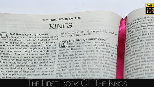 Cover Image for The First Book Of The Kings