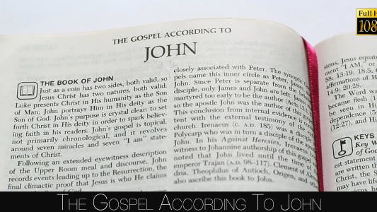 Cover Image for The Gospel According To John