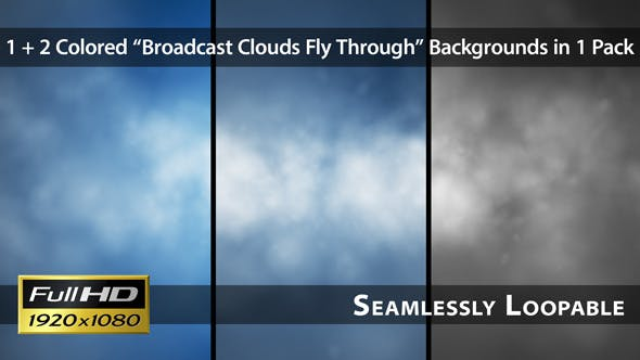 Thumbnail for Broadcast Clouds Fly Through - Pack 01