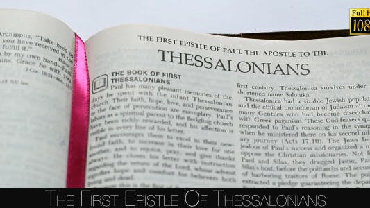 Thumbnail for The First Epistle Of Thessalonians