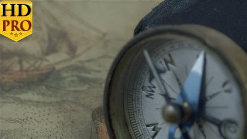 Compass with the Arrow on North