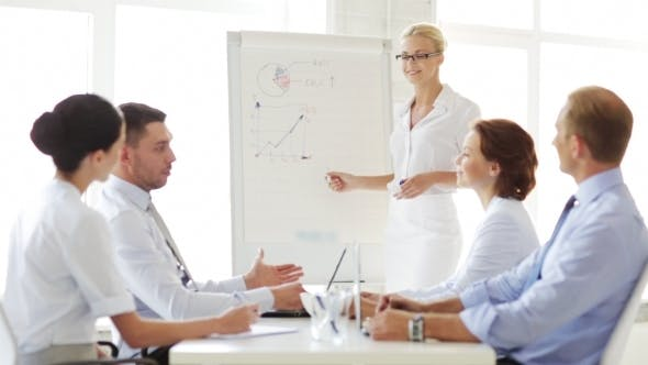 Thumbnail for Business People With Flip Board Having Meeting