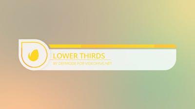 Flat Lower Thirds