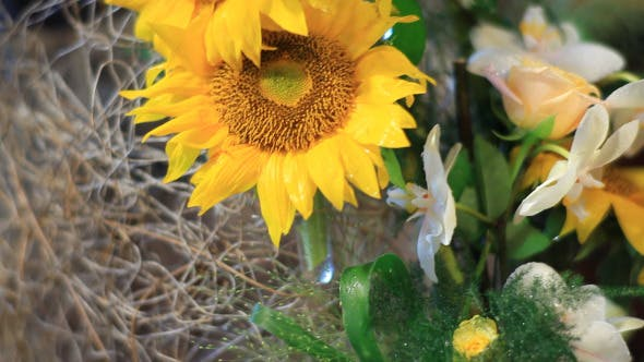 Thumbnail for Sunflower Decoration With Candles (Pack of 2)